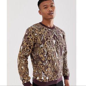 Leopard Design in Metallic Yarn 🧶